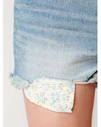 Free People | Blue 5 Pocket Denim Cut Offs | Lyst