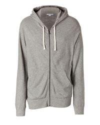 James Perse | Gray Heather Grey Vintage Zip Hoodie for Men | Lyst