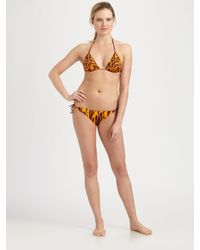 Jean Paul Gaultier | Yellow Two-piece Flame-print Bikini | Lyst