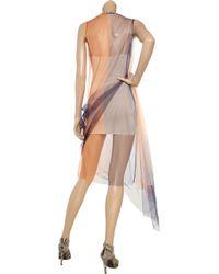 Jil Sander - Orange Color-block Tulle Dress - Lyst