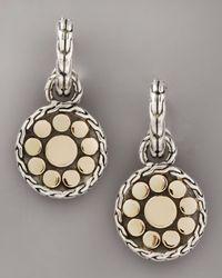 John Hardy | Metallic Dot Nuansa Drop-hoop Earrings, Small | Lyst