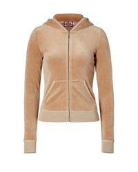 Juicy Couture - Natural Honey Velour Hoodie Jacket - Lyst