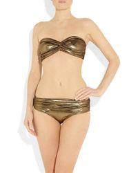Lanvin | Metallic Bandeau Bikini | Lyst