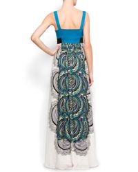 Mango | Blue Gathered Gown | Lyst