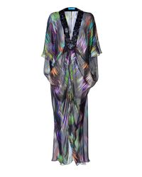 Matthew Williamson Escape | Black Drape Unlined Kaftan | Lyst