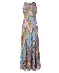 Missoni - Multicolor Striped Stretch Viscose Blend Knit Dress - Lyst
