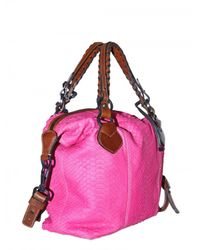 Pauric Sweeney | Pink Overnight Python Shoulder Bag | Lyst
