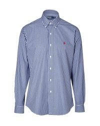 Polo Ralph Lauren | Blue Custom Fit Gingham Long Sleeve Shirt for Men | Lyst