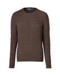 Polo Ralph Lauren | Cable Knit Jumper Tudor Brown Heather for Men | Lyst