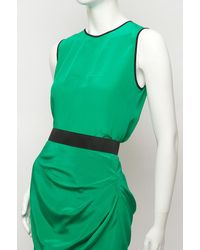 Prabal Gurung - Green Contrast-trim Sleeveless Top - Lyst