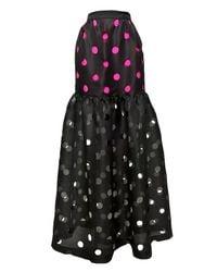 Prabal Gurung - Black Punched Flounce Skirt - Lyst