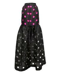 Prabal Gurung | Black Punched Flounce Skirt | Lyst