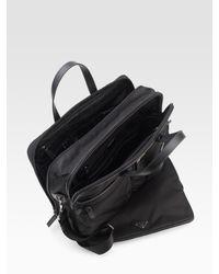 Prada - Black Nylon Weekender Bag for Men - Lyst