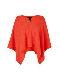 Ralph Lauren | Orange Mandarin Cashmere Cable V-neck Poncho | Lyst