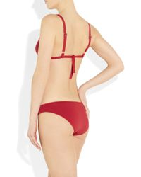 Violet Lake | Red Volpe Triangle Bikini Top | Lyst