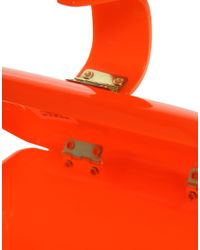 ASOS Collection - Orange Perspex Clutch - Lyst