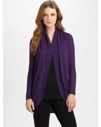 Eileen Fisher - Purple Alpaca Cardigan (plus) - Lyst