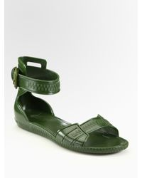 Givenchy | Green Flat Jelly Sandals | Lyst