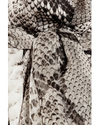 Lanvin - Multicolor Python-print Silk Halterneck Gown - Lyst