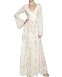 Luisa Beccaria - White Sangallo Embroidered Voile Cotton Dress - Lyst
