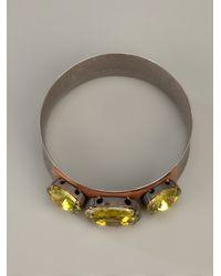 Marni - Metallic Gem Bangle - Lyst