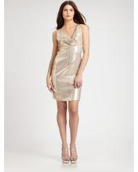 Nicole Miller | Metallic Dress | Lyst