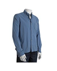 Prada | Sport Blue Stretch Cotton Button Down Shirt for Men | Lyst