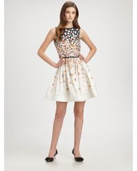 RED Valentino | White Floral A-line Dress | Lyst