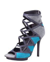 Tory Burch   Blue Sheila Colorblock Sandal   Lyst