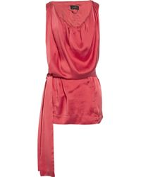 Vivienne Westwood Anglomania | Red Fulfilment Washed-silk Top | Lyst