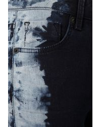TOPSHOP | Blue Tie Dye Side Jamie Jeans | Lyst