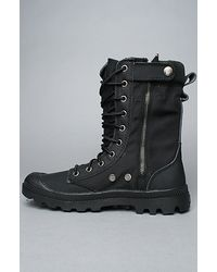 Palladium - Ballistic Nylon & Specialty Leather Combo Pampa Tactical in Black/metal for Men - Lyst
