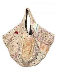Simone Camille | White Carry All Patchwork Canvas Tote | Lyst