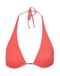 TOPSHOP - Pink Coral Triangle Bikini Top - Lyst