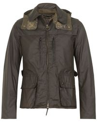 Barbour - Green Olive Cycling Shirt Waxed Jacket for Men - Lyst