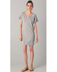 C&C California | Gray Short Sleeve Terry Sweatshirt Dress | Lyst