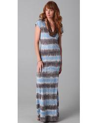 C&C California | Blue Tie Dye Maxi Dress | Lyst