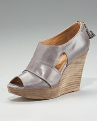 Chloé | Metallic Cutout Back-Zip Wedge | Lyst