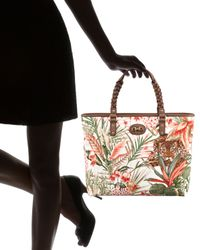 Ferragamo | Multicolor Jungle-print Tote | Lyst