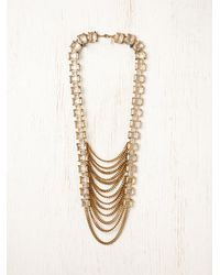 Free People | Metallic Arctic Chain Ladder Necklace | Lyst