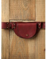 Free People - Brown Cara Pocket Hip Belt - Lyst