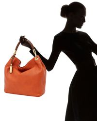 Michael Kors | Orange Skorpios Large Shoulder Bag, Tangerine | Lyst