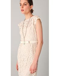 Nanette Lepore | Natural Around The World Lace Dress | Lyst