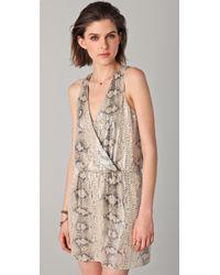 Parker - Brown Python Sequined Dress - Lyst