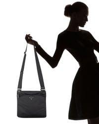 Prada - Black Vela Crossbody Bag - Lyst