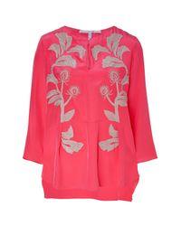 Schumacher | Pink Embroidered Silk Tunic | Lyst