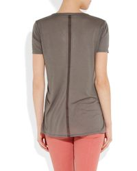 The Row - Gray Sabeen Jersey T-shirt - Lyst