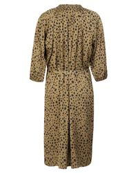 Tucker - Brown Smocked Animal Print Dress - Lyst
