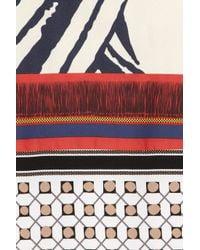 Vionnet - Multicolor Printed Silk-twill Dress - Lyst