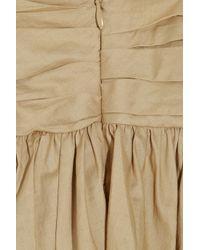 3.1 Phillip Lim | Brown Gathered Cotton Skirt | Lyst